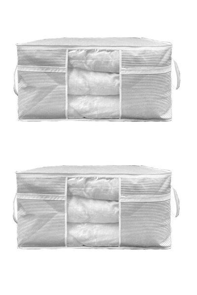 2 Adet - Pencereli Yastık Yorgan Hurcu 75 X 40 X 40