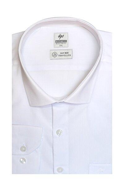 Erkek Beyaz Regularfıt / Rahat Kalıp 7 Cm Klasik Gömlek