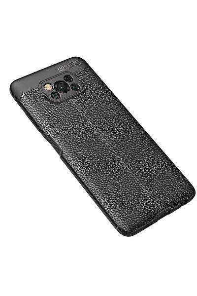 X3 Kılıf Focus Derili Silikon - Siyah