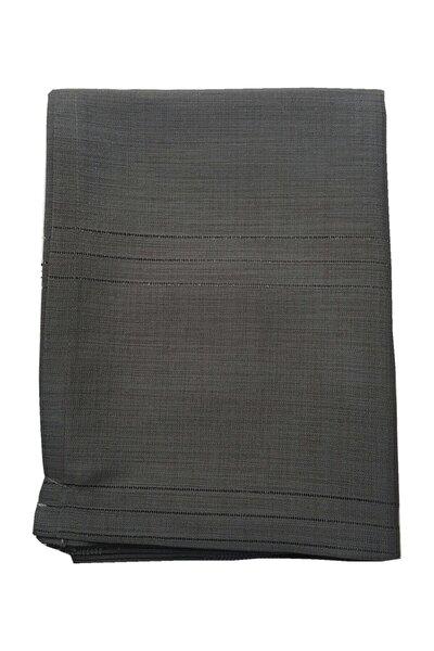 Siyah Keten Kumaş Çizgi Masa Örtüsü 160*220 cm