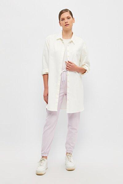 Beyaz Gömlek Yaka Tesettür Tunik TCTSS21TN0416