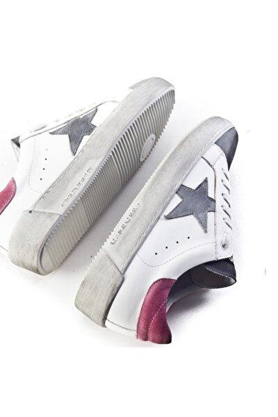 Kadın Flrs 055-fı Lux Yıldız Motifli Günlük Ayakkabı 212c1400 Beyaz