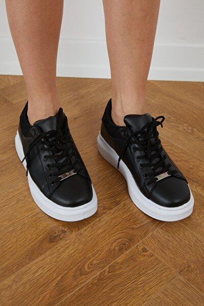 Unisex Siyah Bağcıklı Spor Ayakkabı V2alx