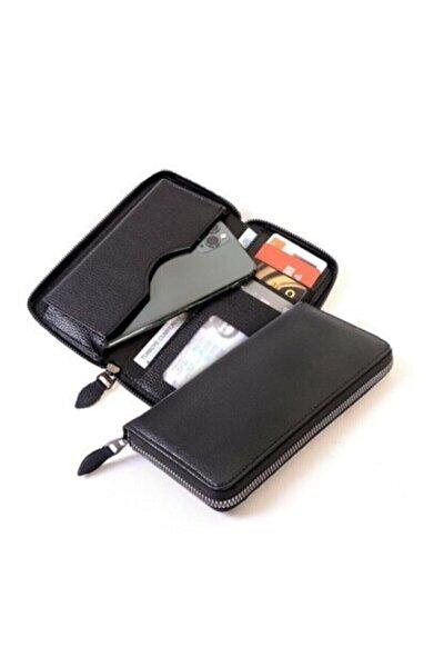 Vanilla Telefon Bölmeli Unisex Vegan Deri Kartlık Cüzdan Trend Model