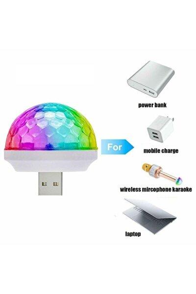 Araç Içi Mini Disko Topu Usb Girişli Telefon Mikrofon Laptop Uyumlu