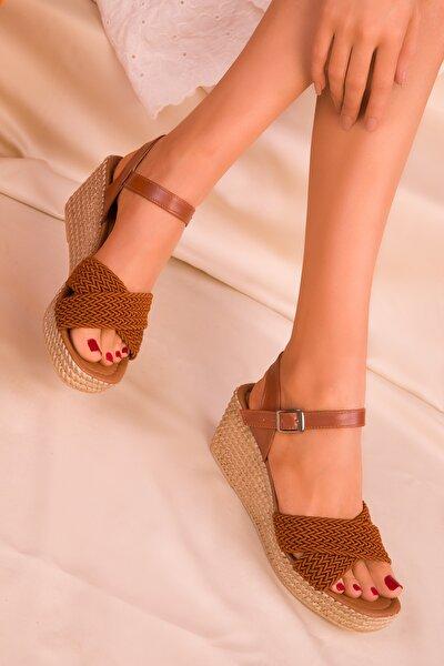 Taba Kadın Dolgu Topuklu Ayakkabı 15850
