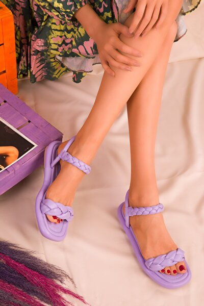 Lila Kadın Sandalet 16383