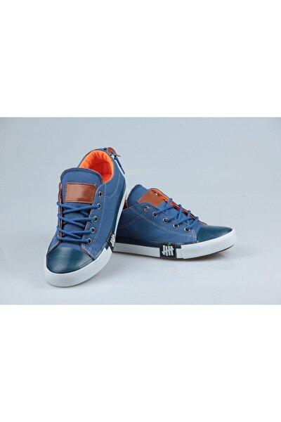 Mavi Keten Yazlık Ayakkabı