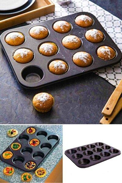 12'li Muffin Kek Kalıbı Metal