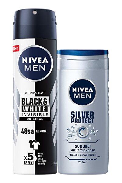 B&w Original Erkek Sprey Deodorant 150 ml + Silver Protect Erkek Duş Jeli 250 ml