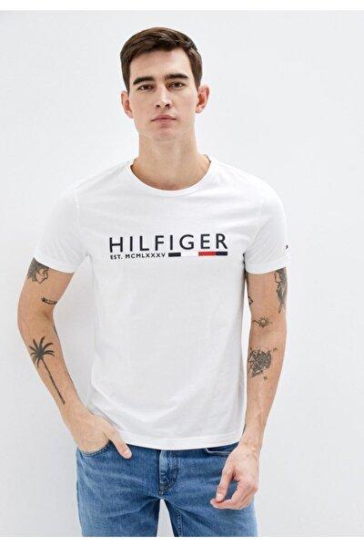 Chest Logo Crew Neck Stripe Men Erkek T-shirt
