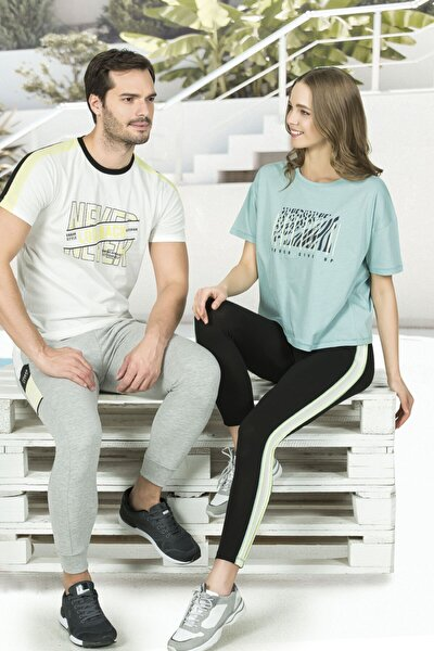 Özkan 25840 Kadın Pamuklu Taytlı Sporcu Pijama Takımı