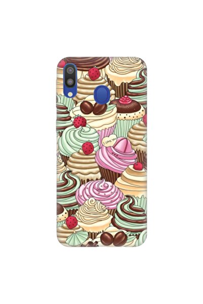 Galaxy A20 A30 Pure Modern Desenli Silikon Kılıf Cupcake Mis