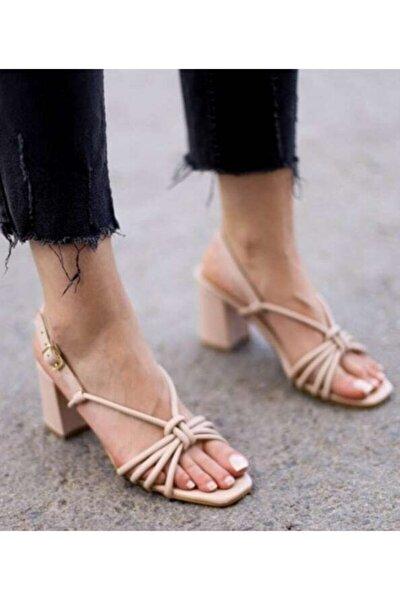 Kadın Nude Bantlı Sandalet