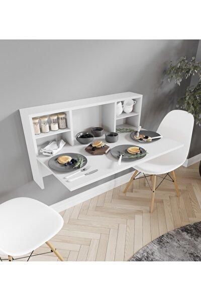 Raflı Katlanır Mutfak Masası