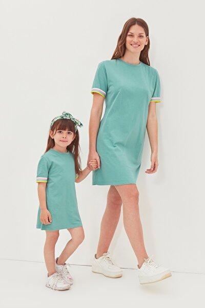 Mint Şerit Detaylı Örme  Elbise TWOSS19FV0107