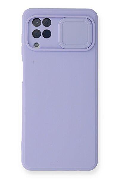 Galaxy M12 Kılıf Color Lens Silikon Grm Mor