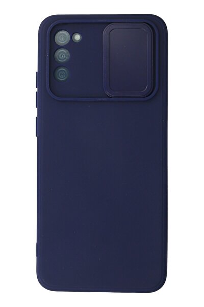 Galaxy A02s Kılıf Color Lens Silikon Grm - Lacivert
