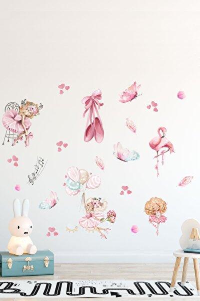 Minik Balerinler Kız Çocuk Odası Duvar Sticker Seti