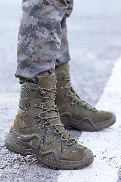 P1490 Meridyen Su Geçirmez Deri Erkek Askeri Bot Ayakkabı
