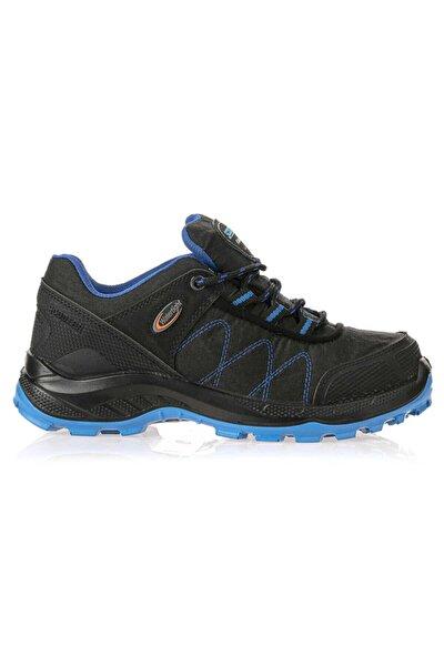 Su Geçirmez Siyah-Mavi Outdoor Ayakkabı G1237tsm 37