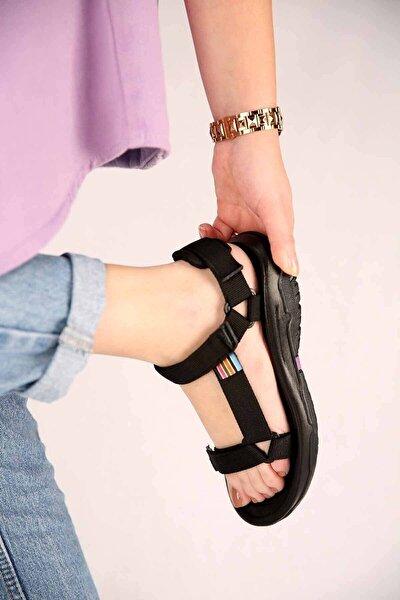 Unisex Step Sandalet Günül Düz Taban Cırtlı