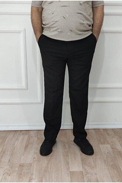 Erkek Büyük Beden Klasik Rahat Kalıp Keten Pantolon