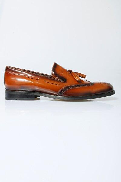 Erkek Kahverengi Klasik Deri Ayakkabı 16-5081