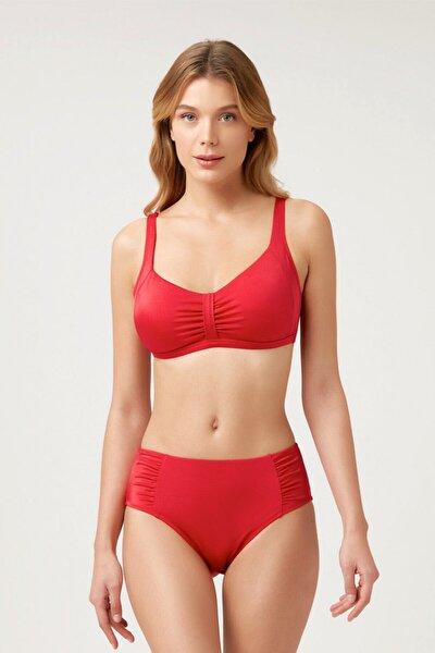 Toparlayıcı Koyu Kırmızı Bikini Takım