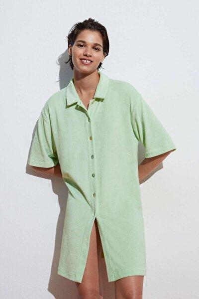 Havlu Kumaşlı Uzun Gömlek