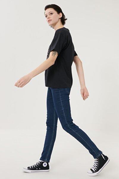 Kadın Koyu Mavi Scarlett Skinny Fit Denim Esnek Jean Kot Pantolon