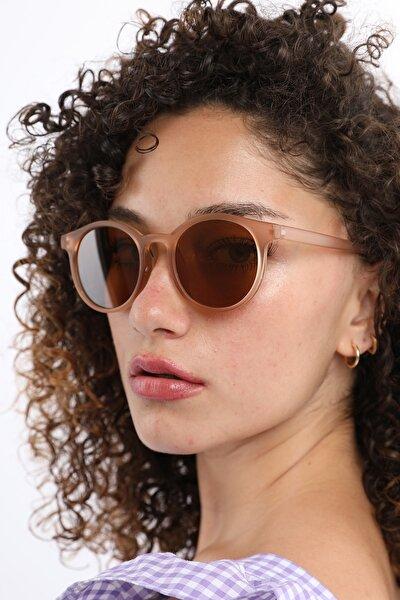 Unisex Kahverengi Güneş Gözlüğü