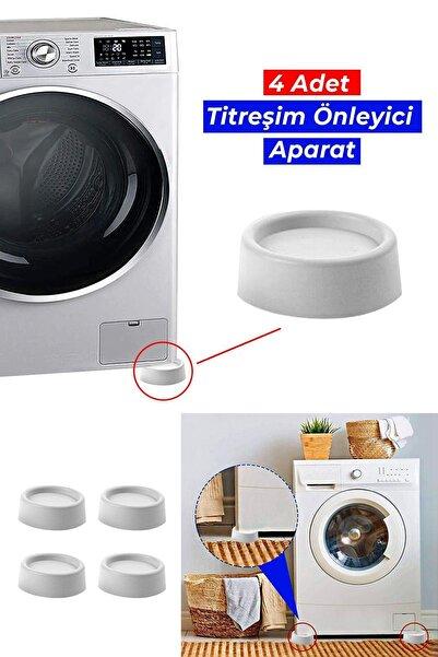 4 Adet Çamaşır Makinesi Titreşim Ve Ses Önleyici Ayak Kayma Önleyici Aparat