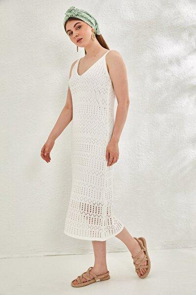Kadın Astarlı Triko Elbise