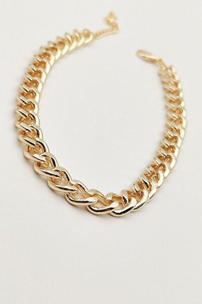 Kadın Gold Kalın Zincir Halhal
