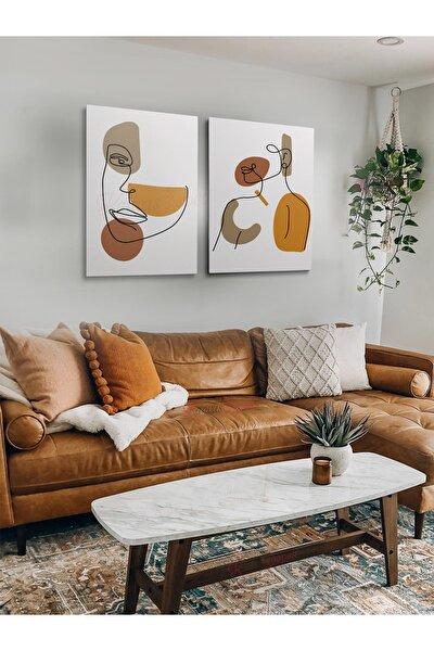 2li Set Boho Bohem Bohe Retro Art Soyut Tablo Dekoratif Kanvas Tablo Canvas Tablolar Soyut Tablolar