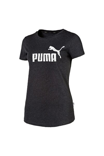 ESS LOGO TEE Gri Kadın T-Shirt 100415226