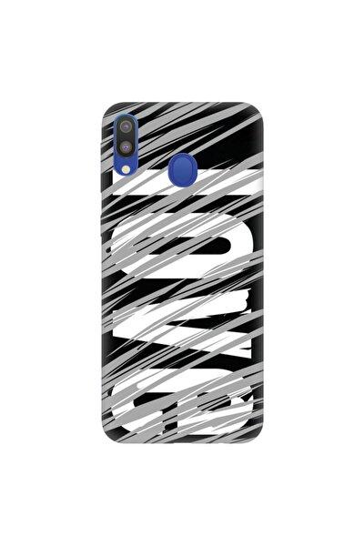 Galaxy A20 A30 Pure Modern Desenli Silikon Kılıf Gri Aşk Love Tema