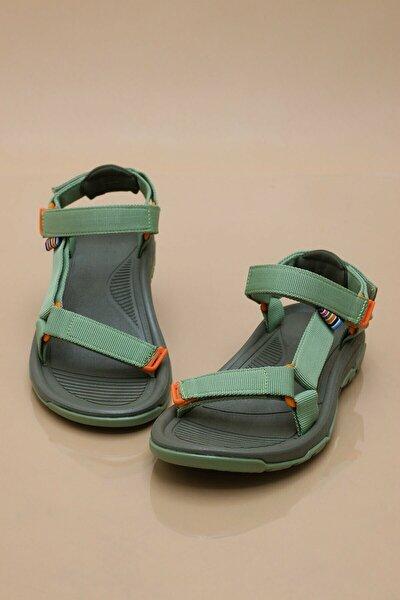 Erkek Günlük Step Sandalet Düz Taban Cırtlı Spor Yazlık Siyah - Bej - Gri - Yeşil