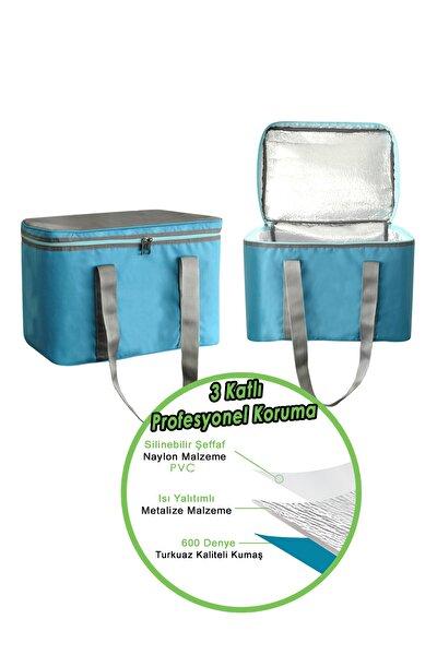 Isı Yalıtımlı Termo Kamp Piknik Paket Servis Çantası Fermuarlı Termal Çanta 36 Litre