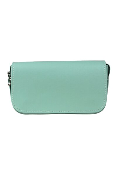 Kadın Su Yeşili Kapaklı Baget Çanta Moly