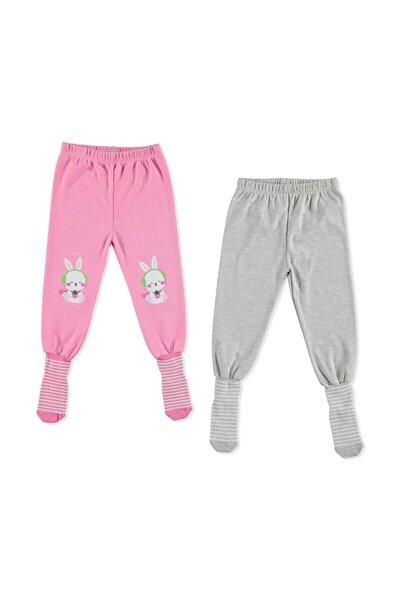 Erkek Bebek Pembe Basic Çoraplı Pijama Pantolon 2li
