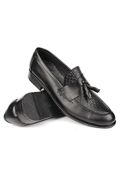 Gvn 019 Hasır Desen Püsküllü Erkek Klasik Ayakkabı