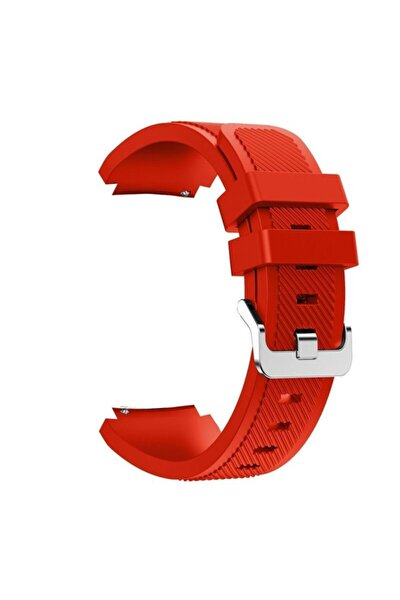 Case Street Honor Watch Gs Pro Kordon Silikon Çizgili Kançalı Kırmızı