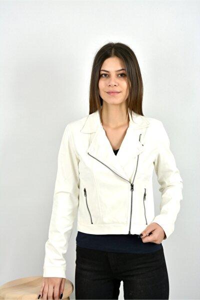 Derı Ceket Beyaz
