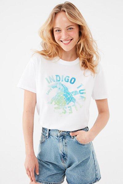 Kadın Beyaz Tişört 1601200-620