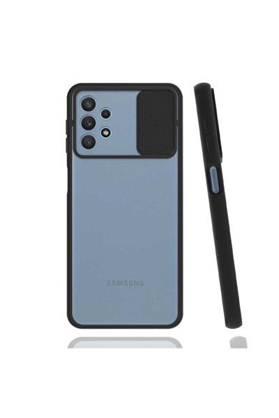 Cover Station Galaxy A32 4g Kılıf Slayt Kaydırmalı Kılıf Kamera Korumalı Renkli Silikon Lensi Kılıf