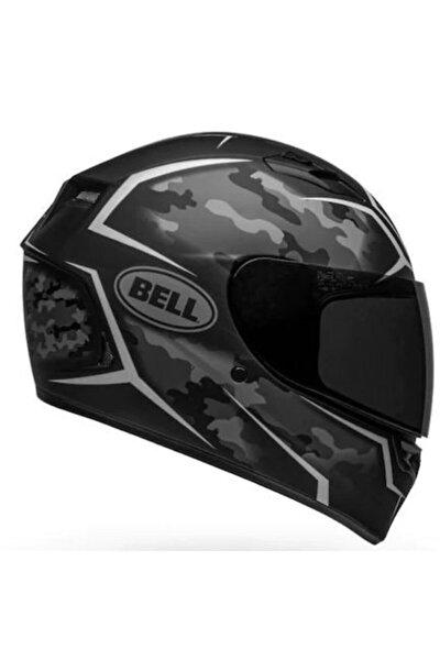 Stealth Camo Matte Black-whıte Motosiklet Kaskı Kapalı
