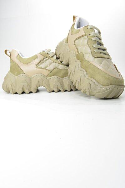 Kadın Bej Sneaker Spor Outdoor Ayakkabı