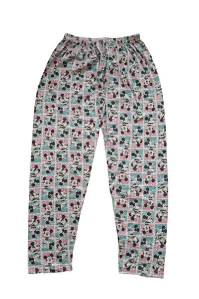 Kadın Pembe Mickey Desenli Pijama Altı